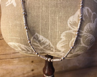 Sterling  Silver 925  Necklace / Choker and bracelet  With sterling silver  beads, stars and hearts   ,very elegant and STUNNING