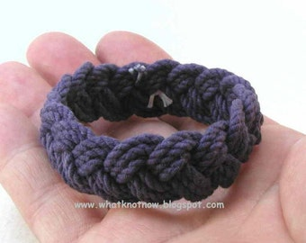 children size small stuff navy cotton rope bracelet rope jewelry turks head knot rope bracelets 3158
