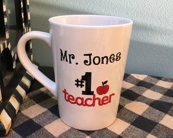 PERSONALIZED Teacher Gift, Personalized Teacher Mug, Teacher Gift, Teacher Mug, Great Teacher Gift, Graduation, Thank You Gift