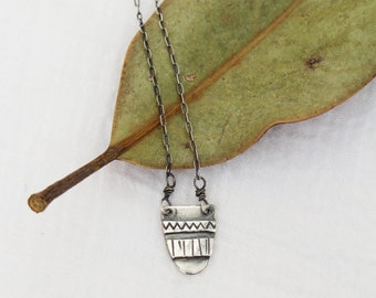 Silver Mini Tapestry Necklace
