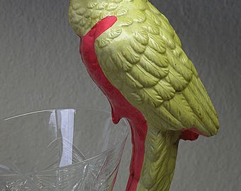 PARROT Large Balancing CELLULOID Bird..Made In Japan