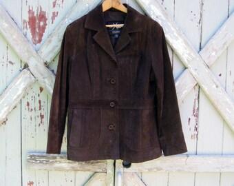 Vintage Maxima 1990s suede jacket M L
