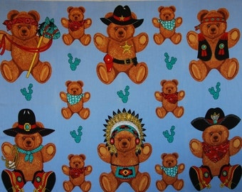 Wamsutta Playtime Bears Applique Panel
