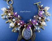 "RESERVED for Rachelle Archangel St. Michael ""One Who is like God"" and Archangels Religious Handmade Angels Charm Bracelet"