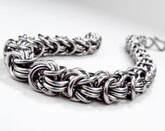 Chainmaille Bracelet - Rosetta Pattern