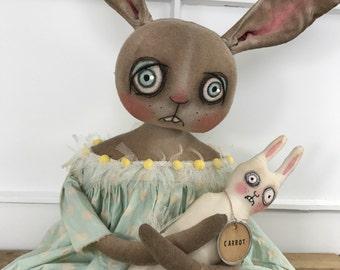 EPATTERN - Daffodil & Carrot Primitive Folk Art Doll EPattern
