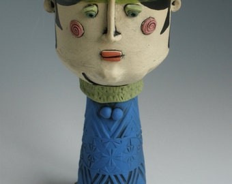 GOBLET, CLAY CUP, Figure Cup, Ceramic Cup, Cup, People Cup, Wine Goblet, Wine Chalice, Ceramic Wine Goblet, Face Cup, Clay Wine Cup