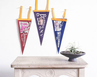 Vintage Felt Pennant Collection / Roadside America / 1950's Souvenir / Americana