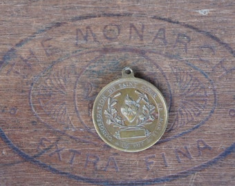 Antique French Bronze Sacred Heart Meal