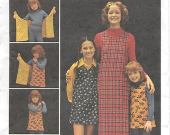 Butterick 6875 UNCUT 1970s Wrap and Go Jumper Vintage Sewing Pattern Misses Medium 12-14 Reversible