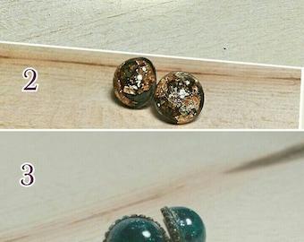 Handmade 12mm stud earrings