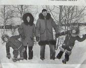 """vintage 1983 sewing pattern Unique patterns Macphee Workshop PARKA pattern adult men women drop sleeve sz 32""""-48"""" chest   uncut"""