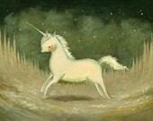 Baby Blue Unicorn Print 10x8 - Unicorn Print, Unicorn Art, Kids Art, Unicorn Art Print, Nursery Art, Unicorn Baby Art, Girl, Boy, Unicorn