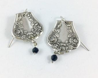 Spoon Earrings, Fork Jewelry, Fork Earrings, Spoon Jewelry, Rose Spoon Earrings, Wife Gift, Cutlery Jewelry, Silverware Jewelry
