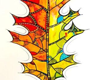 Leaf Art - Downloadable Art Lessons by Artist Kipik - digital file - printable art instructions