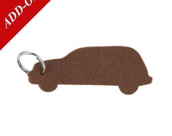 Cruiser Designer Wool Felt Keychain - Brown, 100% Wool, PT Cruiser, Car, Add-On Item