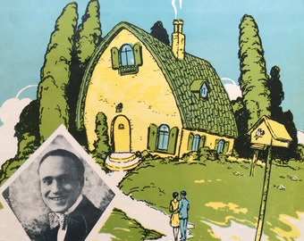 Dream House:  Delicate Deco Sheet Music from 1926--Cozy Cottage for Two