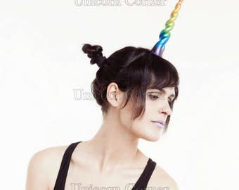 Rainbow Unicorn Horn Headband / unicorn costume photo prop