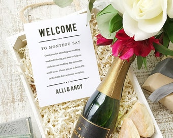 Wedding Welcome Note, Printable Wedding Welcome Bag Letter, Thank You, Nightlife, Itinerary, Agenda, Hotel Card - INSTANT DOWNLOAD