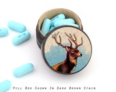 Buck Pill Box - Buck Non Toxic Vitamin Box - Buck Wedding Ring Box - Masculine Ring Box