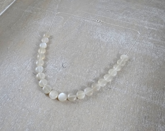 Ivory moonstone on sterling silver necklace