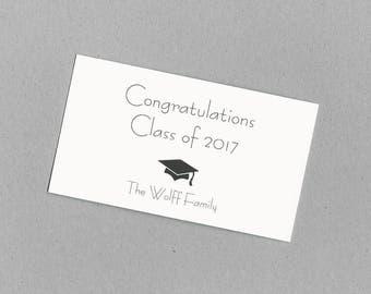 Graduation Gift Bag Tags - Gift Enclosure Cards - Calling Cards - College, High School, Middle School, Kindergarten, Pre-School Graduation