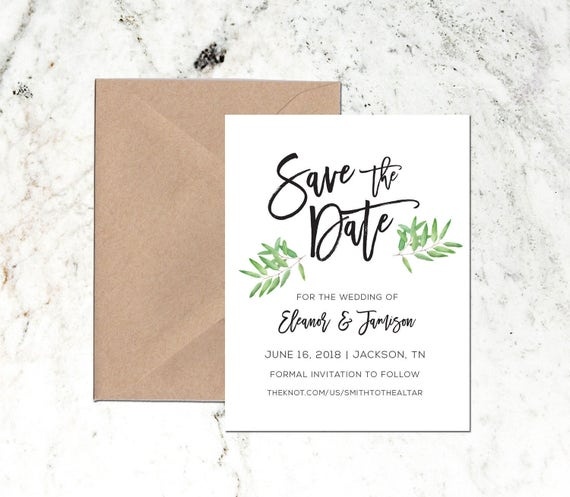 save the date template, save the date pdf, printable save the date, diy save the date, modern printable save the date, diy wedding