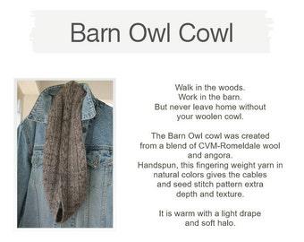 Barn Owl Cowl Pattern
