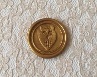 Owl Peel  and Stick Flexible Wax Seals, 1.2 Inches in Size with One Inch Adhesive
