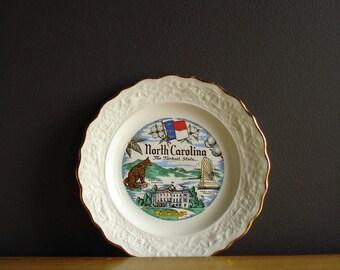 North Carolina Love IV - Vintage Souvenir Plate - NC State Plate - Tar Heel State Plate