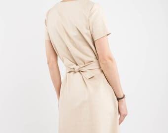 Short sleeve dress | Spring fashion | Sand dress | LeMuse short sleeve dress
