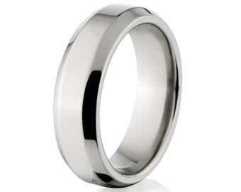 New 6mm Comfort Fit, Custom Titanium Ring:  6B-P