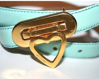 Vintage Moschino Heart Belt Size Small