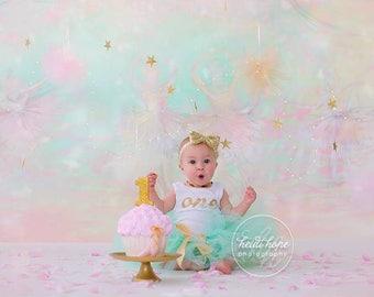 Birthday Tutu | 1st Birthday Tutu Dress | Baby Birthday Tutu | Cake Smash Tutu | Tutu Skirt | Mint and Gold Birthday Tutu