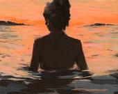 Summer Sunset .  giclee art print