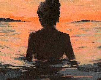 Summer Sunset .  giclee art print