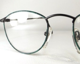 vintage 80s opaque brown cat eye frames deadstock round