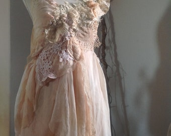 Cinderella dreams mushroom dyed silk dress