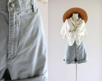 high waist sage shorts