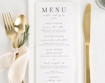 Amelia Dinner Menus - Deposit