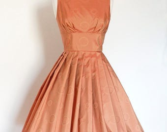 Rose Silk Taffeta Tiffany Prom Dress  - Made by Dig For Victory