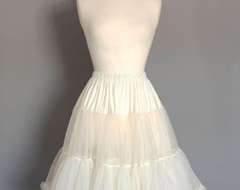 Ivory Swing Petticoat - Soft - Two Layer - Fifties Petticoat - Tulle - Wedding - Retro - Swishy