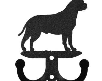 Bull Mastiff Dog 2 Hook Metal Key Chain Holder