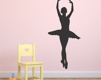 Ballet Wall Decal - Ballerina Decal - Ballet - Ballerina - Dancer Wall Decal - Dance Decals - Vinyl Wall Decals