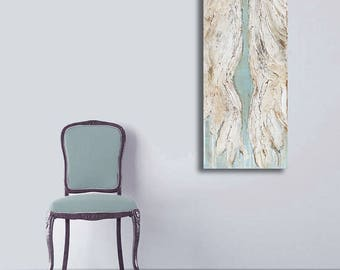 Angel Wings Abstract Textured Painting