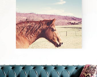 horse photography, rustic western decor, horse canvas art, southwestern decor, gallery canvas art, horse art print, large canvas art