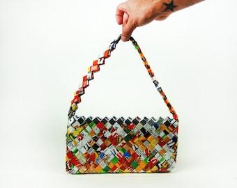 Recycled Sabrito Wrapper Purse || Handmade Chip Wrapper Bag