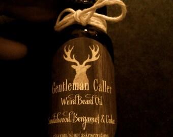 Gentleman Caller Weird Beard Oil Sandalwood Bergamot & Cedar