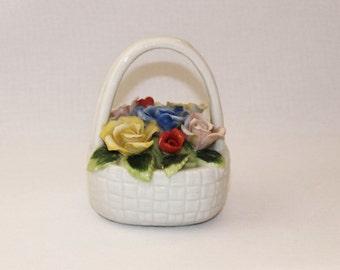 Royal Crown Japan Porcelain Basket of Roses  (771)