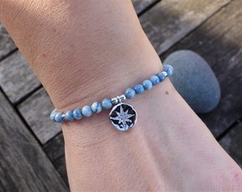 Sİlver Northern Star Charm Gemstone Bracelet
